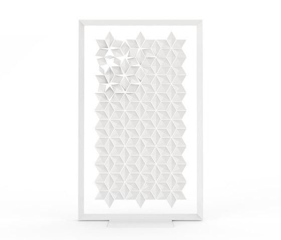 Freestanding Room Divider Facet - white de Bloomming   Éléments de séparation