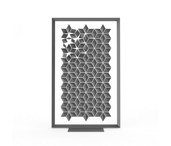 Freestanding Room Divider Facet - graphite by Bloomming | Space dividers
