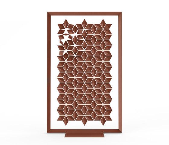 Freestanding Room Divider Facet - chestnut de Bloomming | Éléments de séparation