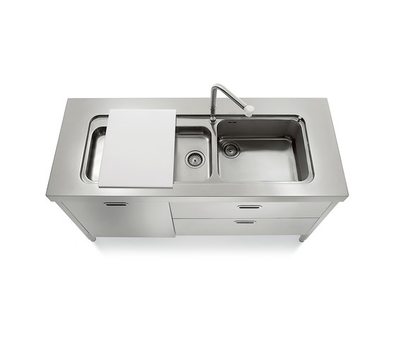 Inox Kitchen Sink : Sinks 160 Kitchens - Kitchen sinks by ALPES-INOX Architonic