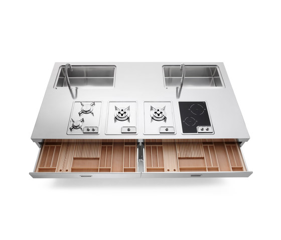 250 Kitchen Islands by ALPES-INOX | Compact kitchens