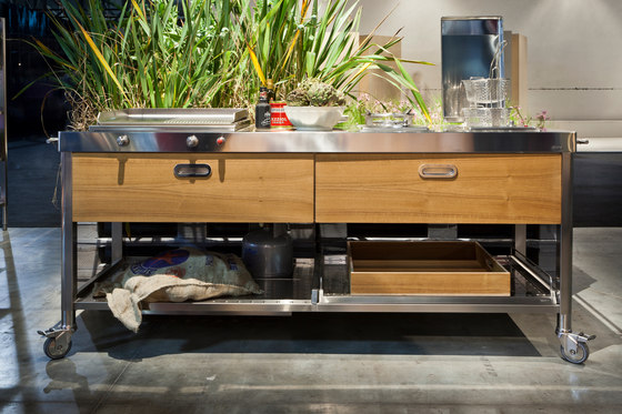 Outdoor 190 Kitchens by ALPES-INOX | Modular kitchens