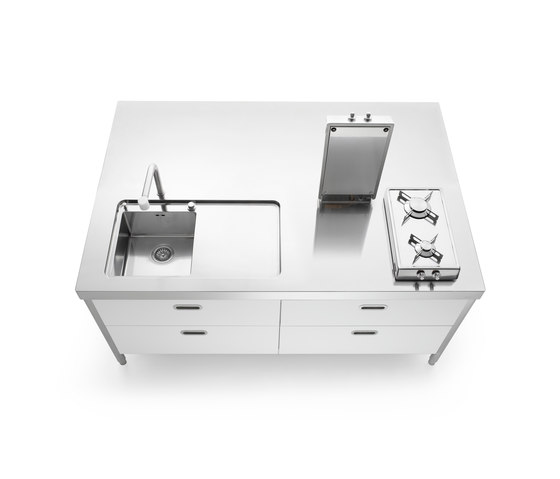 Kitchen Island 190 by ALPES-INOX | Compact kitchens