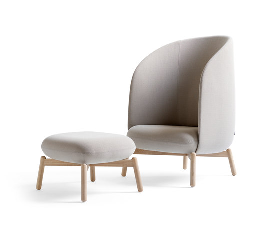 Easy Nest Chair with stool de +Halle | Fauteuils