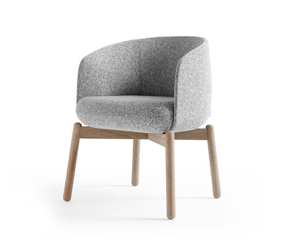 Low Nest Chair Wood de +Halle | Sièges visiteurs / d'appoint