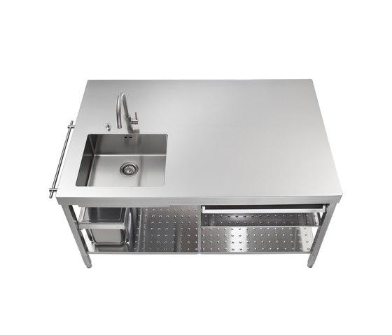 Isla Cocina 160 de ALPES-INOX | Cocinas modulares
