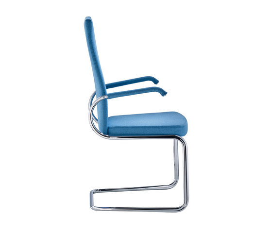 D29P Cinetic cantilever chair upholstered seat by TECTA | Visitors chairs / Side chairs