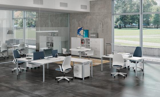 Idea+ 01 by The Quadrifoglio Group | Desking systems