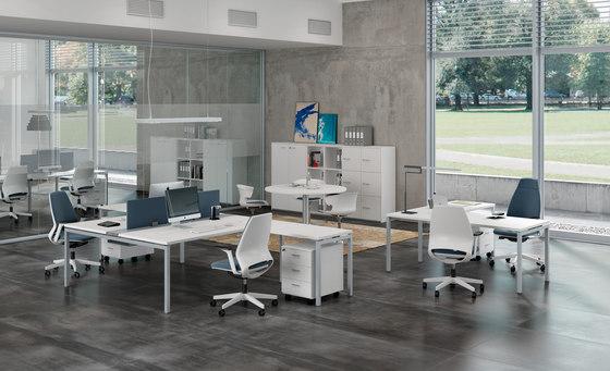 Idea+ 01 by The Quadrifoglio Group   Desking systems