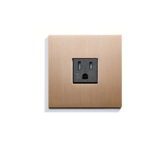 Wall Outlet Single by Meljac distributed by LVL-USA | American sockets
