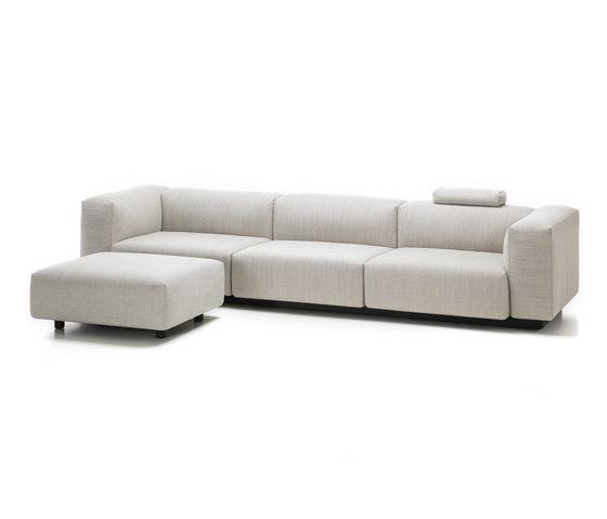 Soft Modular Sofa 3-Seater, Ottoman by Vitra | Sofas