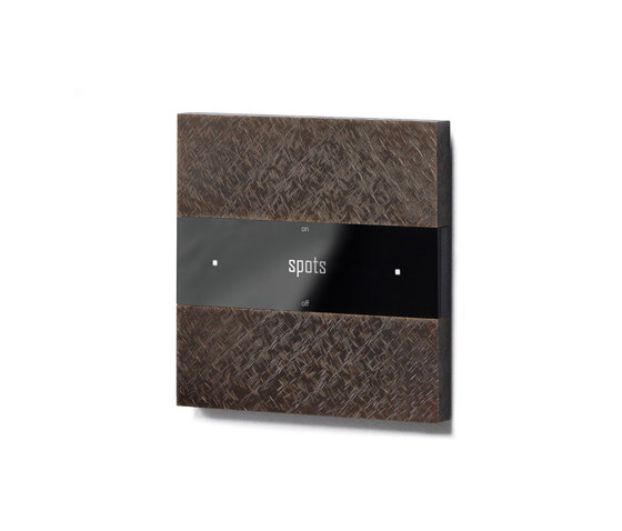 Deseo intelligent thermostat - fer forgé bronze by Basalte | KNX-Systems