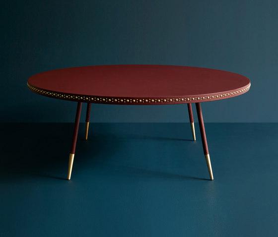 Stud leather coffee table di Bethan Gray | Tavolini bassi