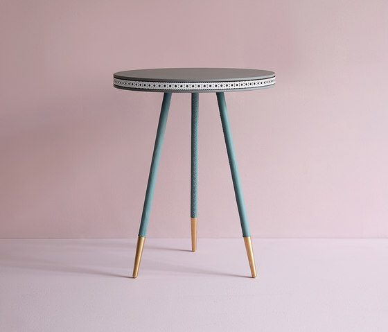 Brogue leather side table by Bethan Gray | Side tables