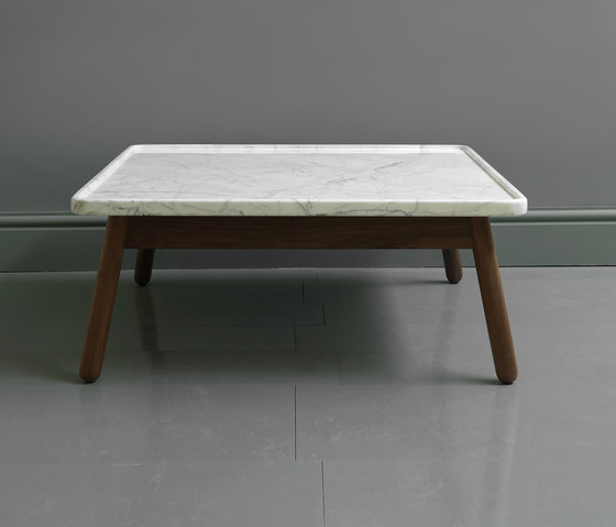 Large Square Stone Coffee Table: CARVE MARBLE LARGE SQUARE COFFEE TABLE