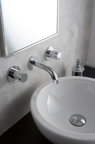 M.E. 25 - Wall-mounted basin mixer - exposed parts by Graff | Wash basin taps