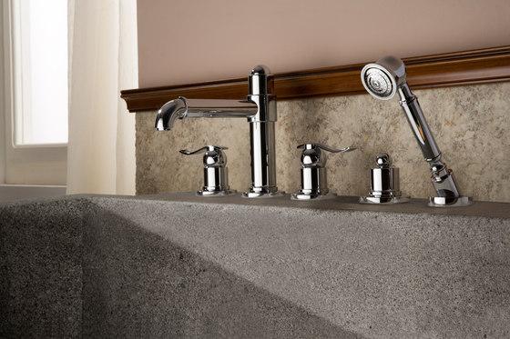 Bali - Deck-mounted bathtub mixer set by Graff | Bath taps