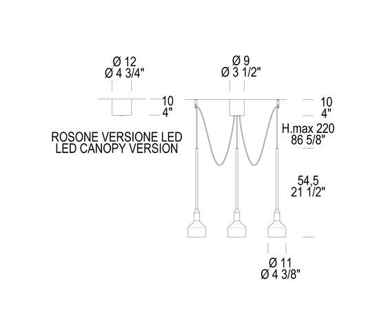Beamer 11S3 de Leucos   Lámparas de suspensión