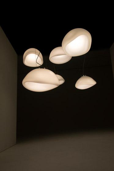 Aurum glass lamp translucent by Tuttobene | Suspended lights