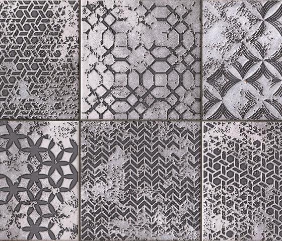 Firenze Heritage Formella Grigia Inserto Mix6 de Fap Ceramiche | Carrelage pour sol