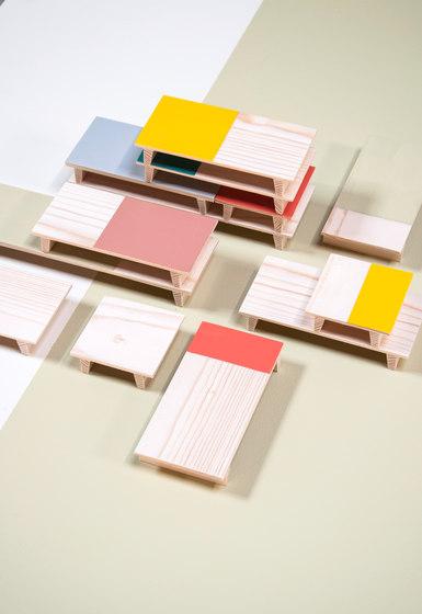 Pallet tables by Tuttobene | Kids storage furniture