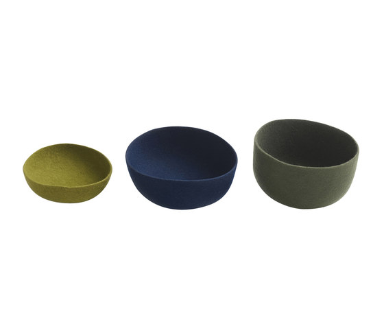 Gorro | bowls, olive green/royal blue/grey by Ames | Storage boxes