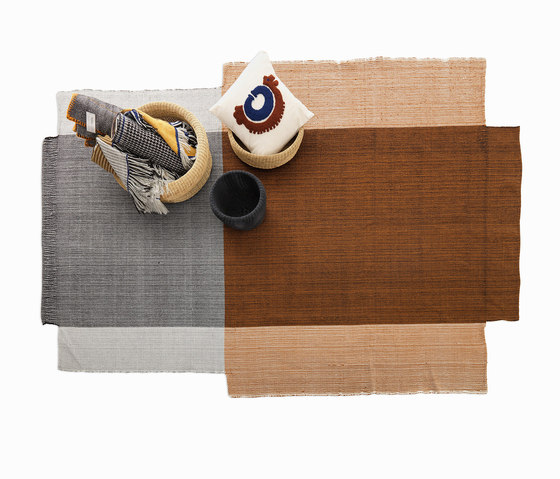 Nobsa | Teppich mittelgroß, grau/ocker/creme von Ames | Formatteppiche