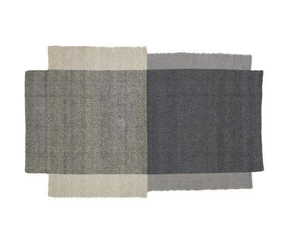 Nobsa | rug small, grey/grey/cream de Ames | Tapis / Tapis design