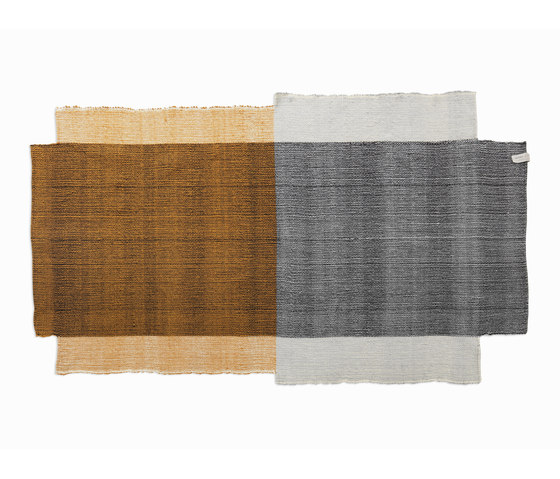 Nobsa | rug small, grey/ochre/cream by Ames | Rugs / Designer rugs