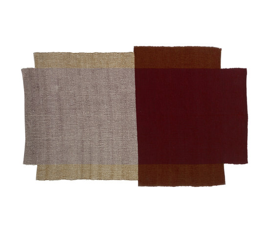 Nobsa | rug small, red/ochre/cream by Ames | Rugs / Designer rugs