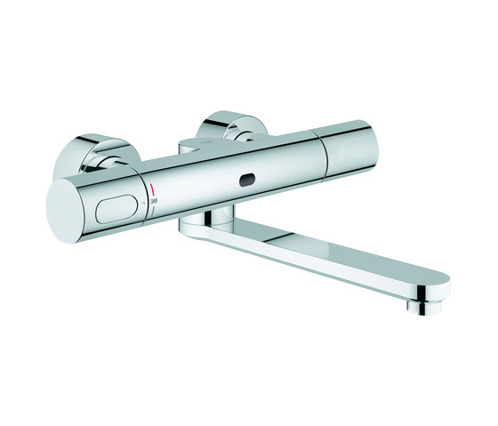 Eurosmart CE Infra-red electronic wall basin mixer by GROHE | Wash basin taps