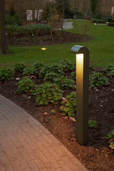 SIMPLY 70cm Anodised Braungrau LED by PVD Concept | Bollard lights
