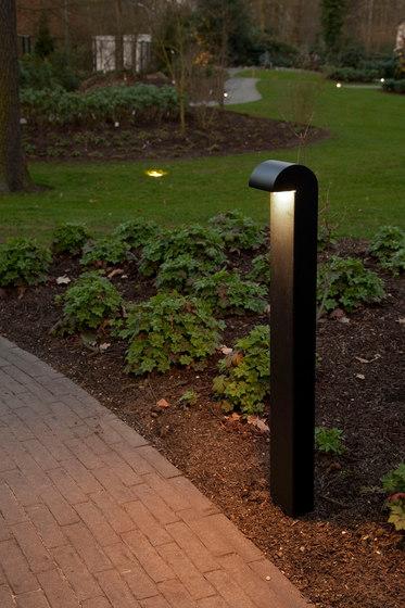 SIMPLY 70cm Anodised Black LED di PVD Concept | Dissuasori luminosi