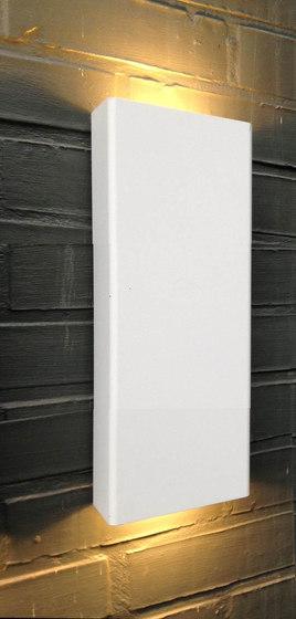 SIMPLY PILLAR up/down Wall medium White LED di PVD Concept | Lampade outdoor parete