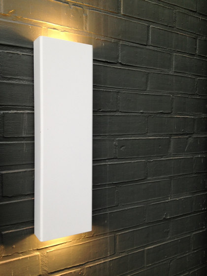 SIMPLY PILLAR up/down Wall large White LED di PVD Concept | Lampade outdoor parete