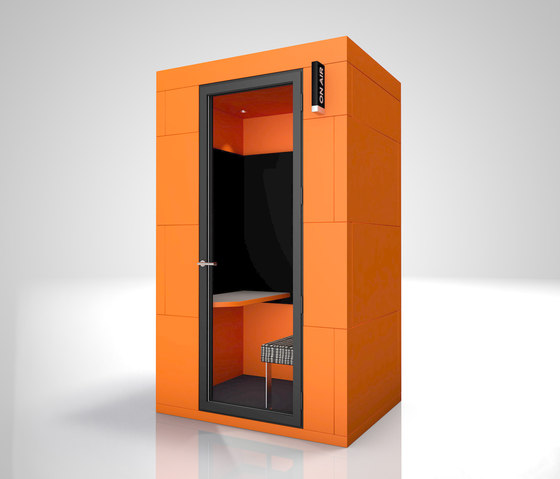 Phone Unit | orange on-air de OFFICEBRICKS | Separación de ambientes