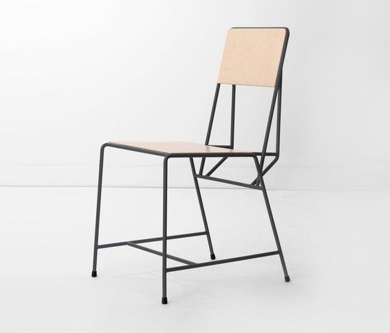 Hensen Chair steel / wood for New Duivendrecht von Tuttobene | Stühle