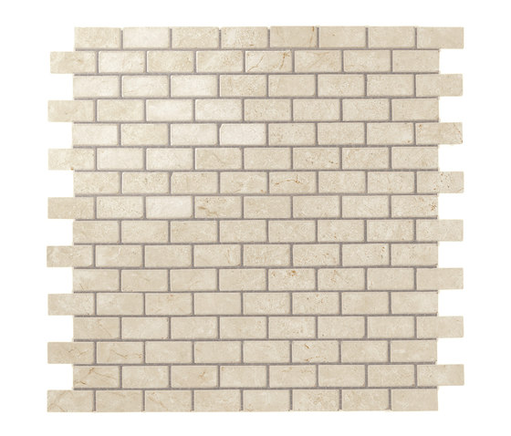 Marvel Stone mosaico burattato cream by Atlas Concorde | Ceramic tiles