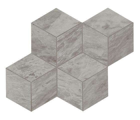 Marvel Stone mosaico esagono bardiglio lappato di Atlas Concorde | Piastrelle ceramica