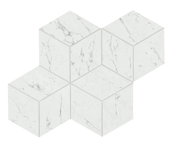 Marvel Stone mosaico esagono carrara lappato by Atlas Concorde | Ceramic tiles