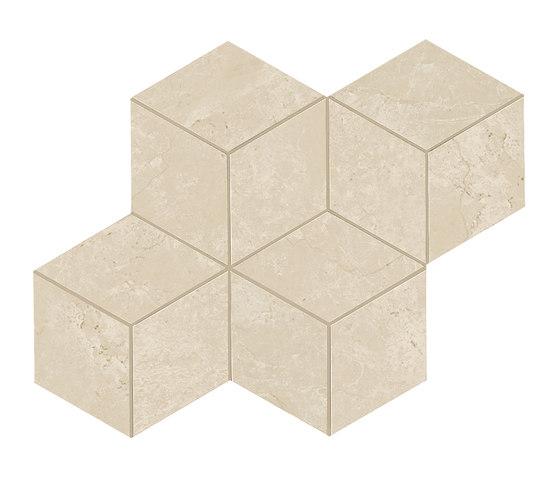 Marvel Stone mosaico esagono cream lappato by Atlas Concorde | Ceramic tiles