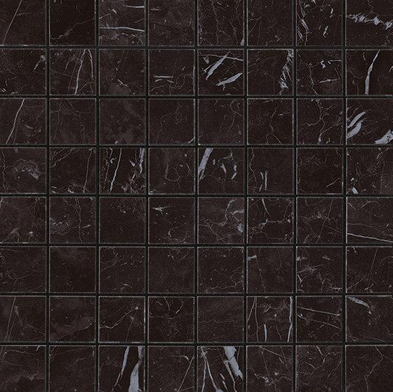 Marvel Stone mosaico matt nero marquinia by Atlas Concorde | Ceramic tiles