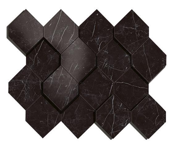 Marvel Stone nero esagono by Atlas Concorde | Ceramic tiles
