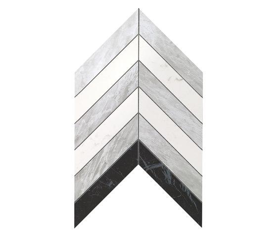 Marvel Stone chevron bardiglio carrara marquina by Atlas Concorde | Ceramic tiles