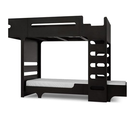 F&A bed - set for 2 kids - dark chocolate de RAFA kids | Camas de niños / Literas