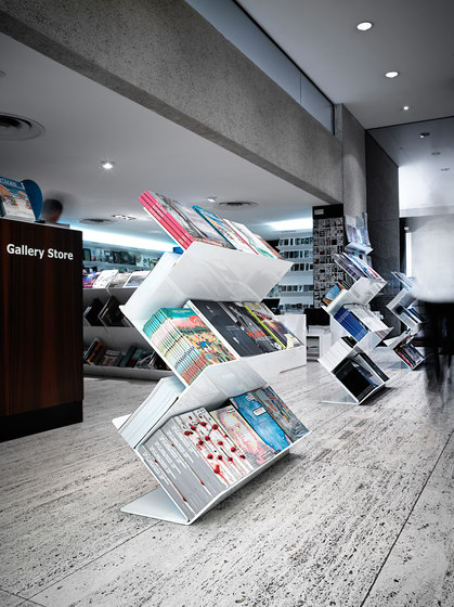 Flatliner Freestand by Derlot Editions | Brochure / Magazine display stands