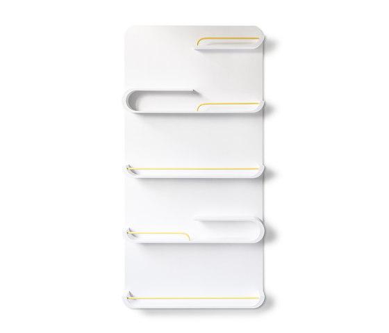 XL shelf - white, yellow metal de RAFA kids   Estantería