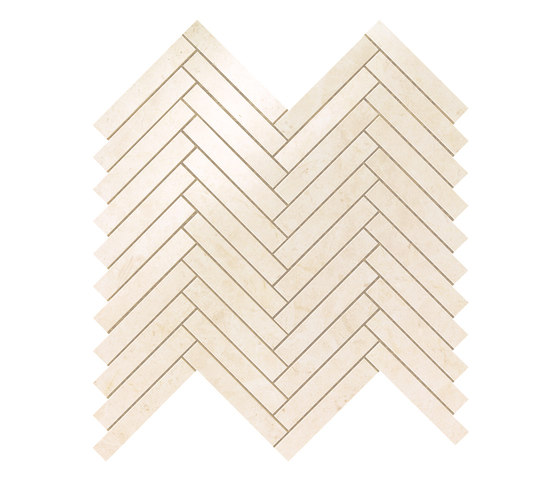 Marvel Stone mos herring bone creme prestige by Atlas Concorde | Ceramic tiles