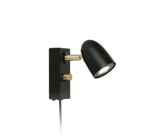 RADIELL V5812-86 BLACK STRUCTURE/BRASS - Wall-mounted spotlights from Belid PRO Architonic