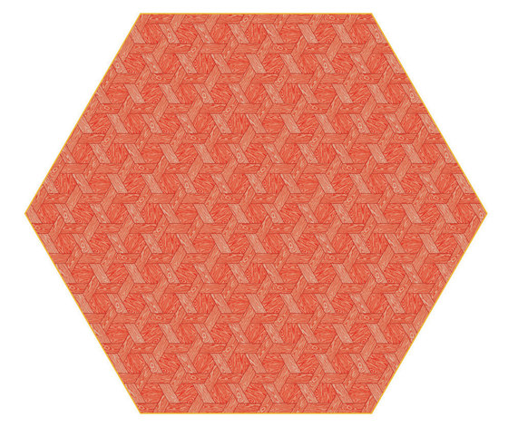 Hexagon | red rug by moooi carpets | Rugs